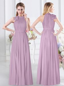 Free and Easy Sleeveless Ruching Zipper Bridesmaid Dresses