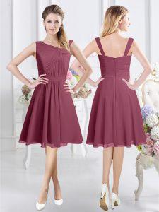 Lovely Sleeveless Ruching Zipper Quinceanera Dama Dress