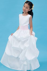 Popular White A-line Scoop Cinderella Pageant Dress on Wholesale Price
