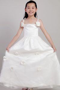 Ankle-length and Organza Cinderella Pageant Dresses