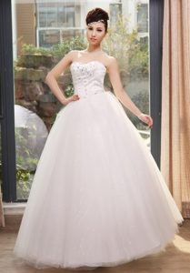 Luxurious Sweetheart Tulle Summer Wedding Gown in Long under 250