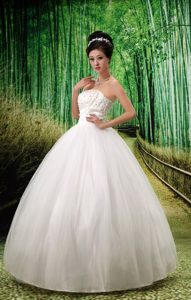 Best Seller Strapless Lace-up and Tulle Wedding Bridal Gown for Fall