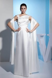 Wonderful Asymmetrical Ruched Summer Dresses for Brides in Floor-length