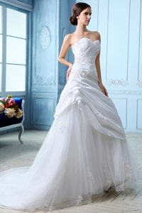 Beautiful A-line Sweetheart Ruched Wedding Gowns for Summer under 250
