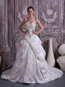 Wonderful Princess Sweetheart Court Train Wedding Bridal Gowns