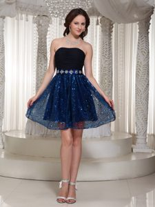 Wholesale Sequined Strapless Ruched Cocktail Dress for Celebrity on Promotion