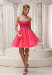 Ruched and Leopard Lovely Mini-length Prom Cocktail Dress on Wholesale Price