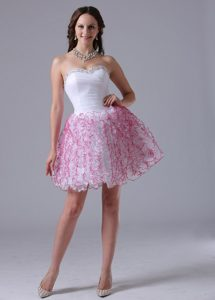 Stylish A-line Ruffles Sweetheart Ruched and Beaded Homecoming Cocktail Dress