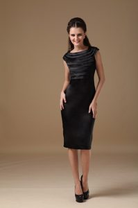 Special Scoop Ruched Knee-length Prom Cocktail Dress for Custom Made