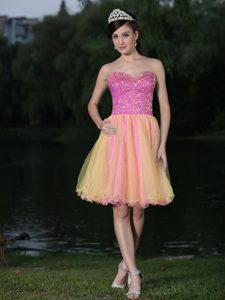 Lovely Sweetheart Neckline Beaded Cocktail Dress for Celebrity for Custom Made