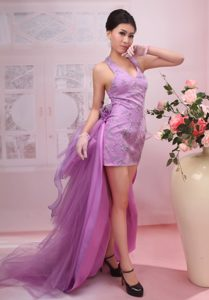 Beautiful High Low V-neck Mini-length Prom Cocktail Dresses on Wholesale Price