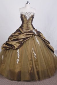 Exclusive Ball Gown Sweetheart Quinceanera Dresses with Appliques