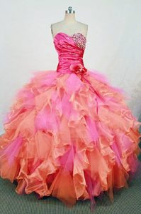 Fashionable Colorful Dresses for Quinceaneras and Ruffles