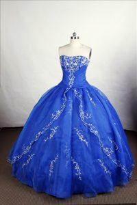 Vintage-inspired Organza Lace Up Strapless Sweet Sixteen Quinceanera Dresses