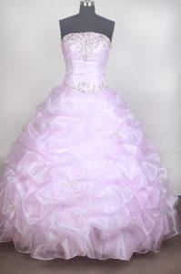 Romantic Ball Gown Strapless Sweet Sixteen Quinceanera Dress for Custom Made
