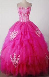 Sweet Sweetheart Quincenera Dresses with Appliques and Beading on Promotion