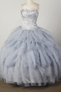 Elegant Sweetheart Dresses fot Quincenera with Ruffled Layers on Promotion