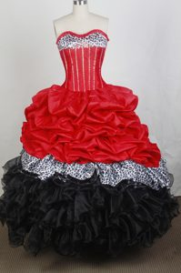 Colorful New Sweetheart Quincenera Dresses with Pick-ups and Ruffled Layers