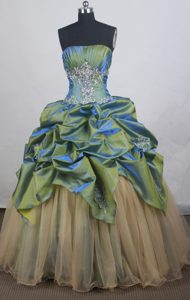 Lovely Beaded and Ruched Quinceanera Dresses with Pick-ups for Custom Made