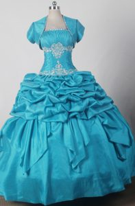 Exquisite Strapless Qunceanera Gown Dress Ruched and Beaded with Pick-ups