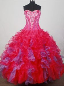 Attractive Strapless Quinceanera Dresses with Ruffled Layers for Cheap