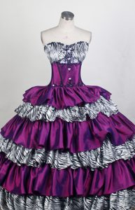 Colorful Embroidery and beaded Quinceanera Dress in and Organza