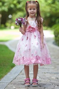 Colorful and Organza Decorated Flower Girl Dresses