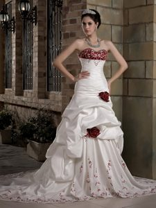 Graceful A-line Sweetheart Bridal Dresses