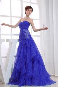 Nice Royal Blue A-line Long Sweetheart Women Evening Dresses