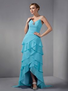 Straps Evening Dresses for Women in Light Blue on Promotion