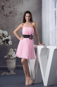 Beautiful Ruched Light Pink Women Evening Dresses with Sash and Pleats