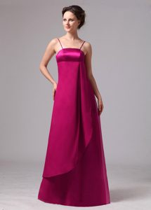 Attractive Red Empire Prom Homecoming Dress with Spaghetti Straps for Cheap