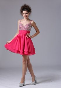 Sweet Beaded Mini-length A-line Short Prom Dress for Cocktail for Custom Made