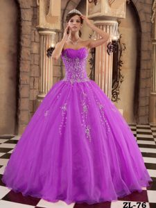 Gorgeous Fuchsia Long Organza Sweet Sixteen Dresses with Beading
