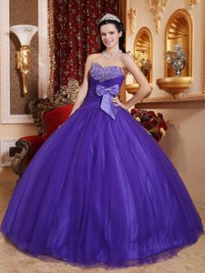 Beautiful Sweetheart Long Tulle and Sweet 16 Dresses in Purple