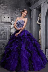 Multi-color Leopard Quinceanera Dress for Sweet 15 with Ruffles Decoration