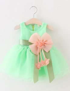 Best Scoop Sleeveless Zipper Flower Girl Dresses Apple Green Organza