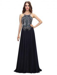 Black Column/Sheath Spaghetti Straps Sleeveless Chiffon With Brush Train Zipper Beading Mother Of The Bride Dress