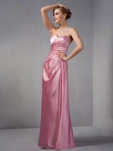 Rose Pink Mother of the Bride Dresses with Sweetheart in Taffeta