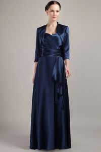 Empire Halter Top Long Mother of the Bride Dresses in Navy Blue