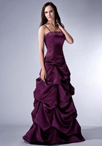 Nice Purple Spaghetti Straps Semi-formal Prom Dress with Beading