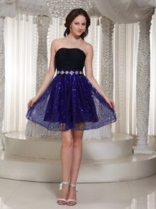 Wholesale Sequin Sexy Strapless Prom Dresses for Slim Girls with Beading