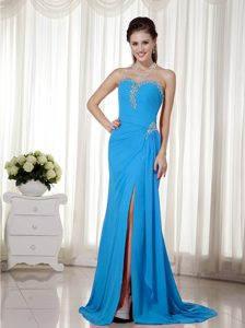 Beat Aqua Blue Sweetheart Dress for Prom with Beading