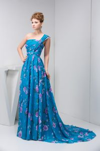 One Shoulder Ruched 2012 Charming Prom Homecoming Dress in Multi-color