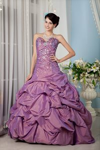 Lavender A-line Sweetheart Quinceanera Dress Made in and Sequins