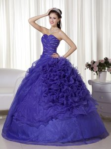 Charming Sweetheart Long Organza Quinceanera Dresses with Ruffles