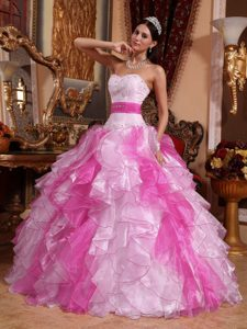 Multi-colored Flattering Sweetheart Quinceaneras Dresses in Organza with Beading