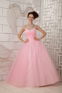 Recommended Pink Ball Gown Straps Quinceanera Dresses to Long