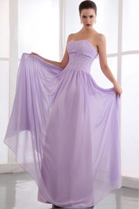 Empire Strapless Long Chiffon Cheap Prom Gown Dress in Lavender