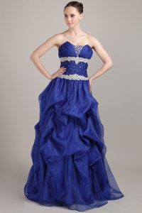 A-line Sweetheart Long Beautiful formal Prom Dresses in Royal Blue